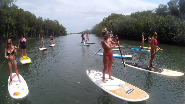 Girls on SUP tour
